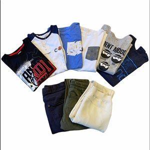9 pcs Bundle Tag, Bluemind, Georges Mix Boy's Size 14-16 / 6 T-Shirts 3 Pants.